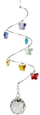 Crystal Spiral Butterflies Medium Ball.  #crystal #crystals #butterflies #spiral