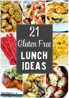 Need inspiration for eating gluten free lunches? Here are 21 delicious gluten free lunch ideas that will have you (and even your picky eaters) asking for seconds.