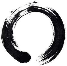 "This is an ensō circle. The ensō is a circular symbol often referred to as ""The Zen Circle"". The word itself simply translates to ""circle"" in Japanese; however, it embodies one of the defining aspects of Zen Buddhism, no-mind. A state of no-mind is where a person is free from thoughts and emotions while being completely present in the now. It is believed that while in this state of total presence, true creativity can arise."