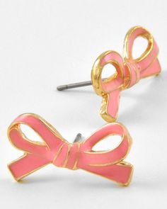Pink Bow Stud Earrings from Bows To Toes