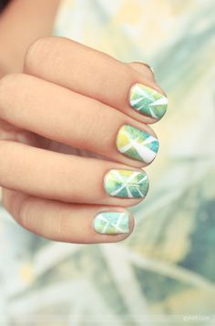 palm tree nail art ~Inspired by Batiste's Tropical Dry Shampoo http://www.batistehair.com.au~ #nail #palm #polish