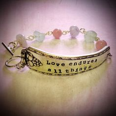 Love Endures All Things Stamped Spoon Handle by erinschock on Etsy, $38.00