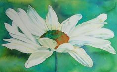Daisy painted with Brusho