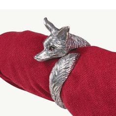 Tale of the Fox Pewter Napkin Ring