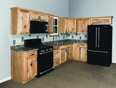 Wertauswahl 19 & # L Thunderbay Hickory Kitchen - Nur Schränke - - Rustic Kitchen, New Kitchen, Kitchen Decor, Kitchen Design, Kitchen Ideas, Kitchen Storage, Menards Kitchen Cabinets, Hickory Kitchen Cabinets, Pine Cabinets