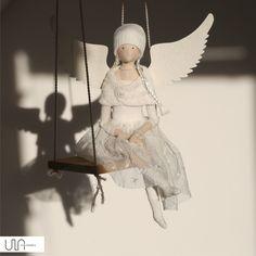 Czasem widać tylko ich cień... ale zawsze są! tilda angels angel doll
