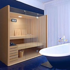 Modern sauna room ideas can apply to your room and get trendy and stylish decor for the interior, read the latest design ideas and view extensive images of every room. Modern Saunas, Sauna A Vapor, Indoor Sauna, Sauna Design, Finnish Sauna, Bidet, Sauna Room, Home Spa, Cozy House