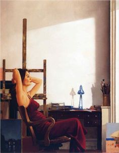 Model in the Studio - Jack Vettriano