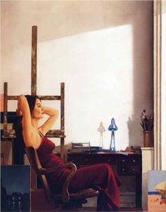 Model in the Studio - Jack Vettriano
