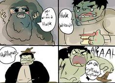 Hulk + Harry Potter: Part 1.