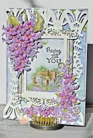 Praying for You - created with the Lush Lilac Collection from Fancy Fold Cards, Folded Cards, Heartfelt Creations Cards, Hunkydory Crafts, Christmas Blessings, Felt Hearts, Paper Crafts, Card Crafts, I Card