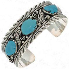 Sleeping Beauty Turquoise Cuff Handmade Navajo Bracelet