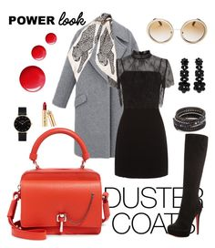 """""""Power Looooook!"""" by style-vh ❤ liked on Polyvore featuring Christian Louboutin, Carven, Sandro, Marc Jacobs, Dolce&Gabbana, Simone Rocha, Chan Luu, CLUSE and Topshop"""
