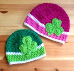 Crochet Shamrock Hat St. Patrick's Day Irish by BellaBeansCrochet, $20.00
