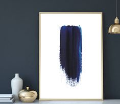 Indigo Prints, Navy Blue Artwork,Abstract Print, Watercolour Wall Art, Modern Minimalist Painting, Navy Blue, Brush Stroke, Digital Download by PDFdecor on Etsy https://www.etsy.com/au/listing/522658231/indigo-prints-navy-blue-artworkabstract