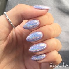 Bluesky DC101 Gel Polish + GlitterArty 'Nikki' Holographic Glitter