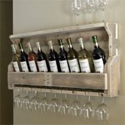 Reclaimed timber wood pallet wine racks