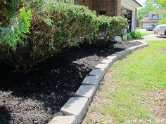 Yard Landscaping - Block Wall