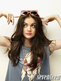 Lucy Hale in Seventeen