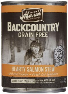 Merrick Backcountry - Hearty Salmon Stew - 12.7 oz - 12 ct -- Amazing product just a click away  : Dog food types