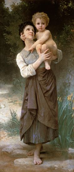 William Adolphe Bouguereau - Mother and Child