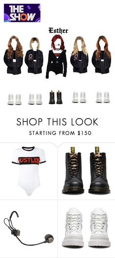 """""""The Show:Esther Solo Debut Stage """"Blurring""""+Win Speech + Encore"""" by officialdlxx ❤ liked on Polyvore featuring Hood by Air and Dr. Martens"""