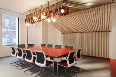 organic materials and textural interest in a typical conference room