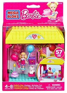 Mega Bloks Barbie – Chelsea Birthday Fun Chelsea's Birthday Bash Building For Kids, Building Toys, Lego Hotel, Construction Toys For Boys, Pranks For Kids, Shop Lego, Wedding Flower Girl Dresses, Colourful Balloons, Birthday Bash