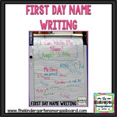 First day name with scaffolded name practice! Click to see how we write our names on the first day of kindergarten!