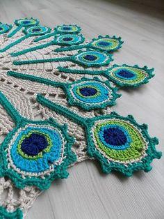 Peacock Crochet, Crochet Birds, Crochet Motif, Crochet Shawl, Crochet Doilies, Crochet Stitches, Free Crochet, Knit Crochet, Crochet Patterns