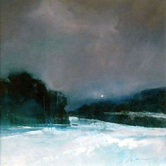 Winter Valley Moon - Art collection by Richard Morin