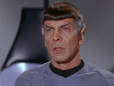 This is how I look at my age with a little grey on the side but I don't have a high level of intelligence as Mr Spock.