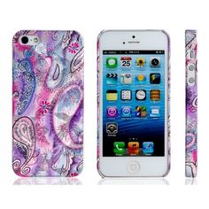 Artsy Purple Paisely Design iPhone 5 Case