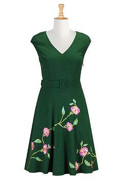 I <3 this Peony cotton knit dress from eShakti
