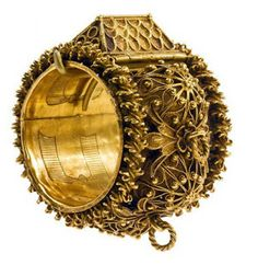 "Gold wedding ring, gold filigree house, inside is engraved with ""Mazal Tov, Jacob and Ytla"" inside the ring body has initials engraved. Probably Italian work of the 19th century. Jewish Rings"