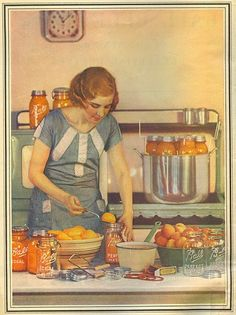 canning  {love this picture} Vintage canning woman