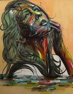 Street Art by Hopare in Orsay, France. Detail