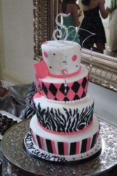 A fun Bat Mitzvah cake