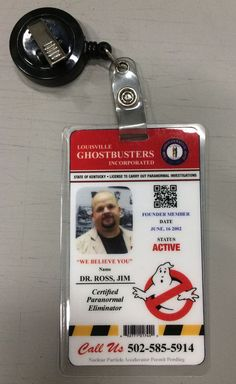 Customized Name Badge for your Ghostbusters Uniform. and I will create a Customized laminated Ghostbusters ID namebadge for your uniform. • Provide The name as you would like it to appear on the badge.   eBay!