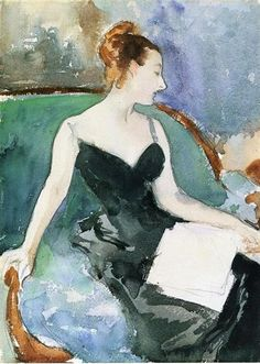 Madame Gautreau, 1883 by John Singer Sargent. Impressionism. sketch and study. Fogg Art Museum, Cambridge, Massachusetts, USA
