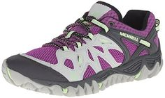 Merrell Women's All Out Blaze Aero Sport Hiking Water Shoe, Grey/Purple, 8 M US >>> Learn more by visiting the image link.