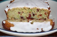Zucchini Bread with Dried Cranberries & Almonds