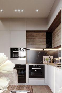 19 Trendy ideas for kitchen countertops stone interior design Kitchen Room Design, Modern Kitchen Design, Living Room Kitchen, Home Decor Kitchen, Interior Design Kitchen, Home Kitchens, Kitchen Ideas, Stone Interior, Modern Kitchen Interiors