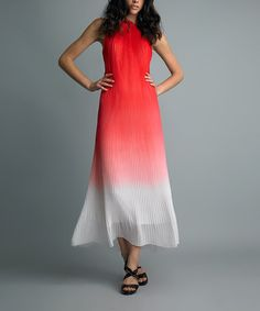 Take a look at this Red Ombre Dress by Vasna on #zulily today!