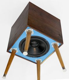 Handmade Blue Heron Subwoofer by Bekerwerks Design | CustomMade.com