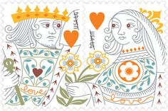 Love: King and Queen of Hearts • as part of the USPS collection • by artist Jeanne Greco • May 8, 2009