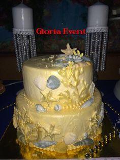 Sea style cake-торт в морском стиле