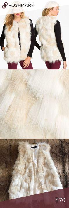 Steve Madden Faux Fur Vest Gorgeous cream Steve Madden faux fur vest in excellent condition. So cute! Perfect for fall! 14dcsdg Steve Madden Jackets & Coats Vests
