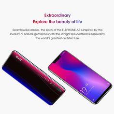 Elephone A5 4G Smartphonee Face ID 4GB RAM 64GB ROM - US$227.99 Sales Online blue eu - Tomtop Smartwatch, Apple Technology, Face Id, 4gb Ram, A5, Natural Gemstones, Blue, Smart Watch