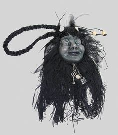 "Katherine's Collection Sorceress Halloween Collection Approx 20"" Shrunken Head Purse Free Ship"